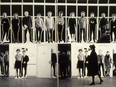 Michael Schirner, B-Männer, Medienkunst-Intervention, Installation Shot, Hamburg 1967