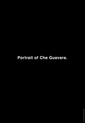 Michael Schirner, Portrait of Che Guevara, Vertical City Light Poster, Toronto 2013