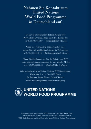 Informationsbroschüre für United Nations World Food Programme, 2005